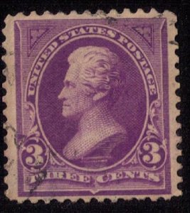 US Sc 253 Used 3c Violet Lightly Cancelled Very Fine