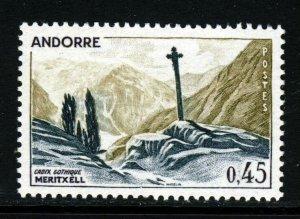ANDORRA (French) 1961 45c. Meritxell Cross SG F176a MNH