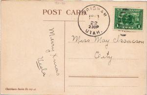 United States Utah Brigham 1913 duplex  1895-1950  2c Panama Pacific  PC.