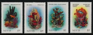 Nevis 503-6 MNH Coral, Marine Life