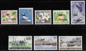 Cook Islands Scott #'s C1 - C8 MH Short set