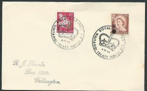 NEW ZEALAND 1963 cover Royal Visit Waitangi pmk............................44131