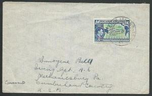 PITCAIRN 1956 commercial cover to USA, GVI 3d............................59799
