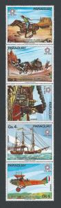 Paraguay #1664-8 NH American Bicent. - Vert. Strip of 5