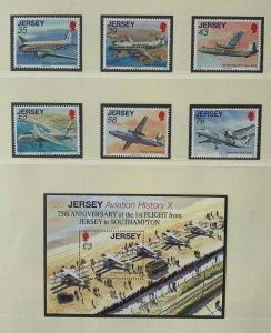 JE116) Jersey 2009 Aviation History Part X (6) + M/S MUH
