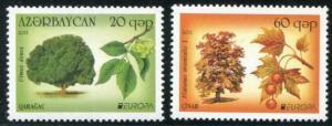 HERRICKSTAMP AZERBAIJAN Sc.# 945-46 Europa 2011 Forests