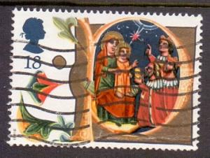 Great Britain 1991 used Christmas  18p  #