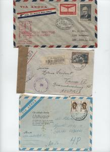 Group of 7 Latin America covers 1940s-1990s - Argentina, Chile, etc. [L.418]