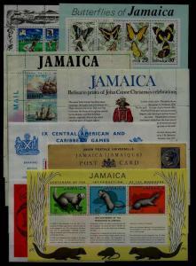 Jamaica 8 diff. MNH s/s