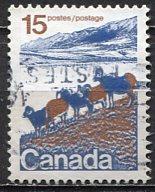 Canada; 1972: Sc. # 595a; O/Used Single Stamp
