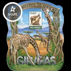 Mozambique MNH S/S Giraffes 2015