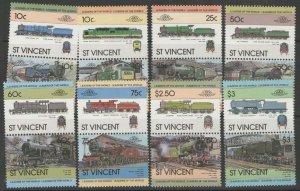 ST.VINCENT SG744/59 1983 RAILWAY LOCOMOTION MNH