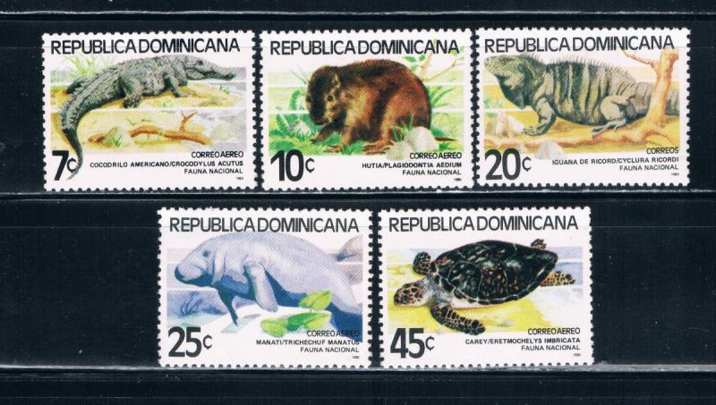 Dominican Republic 835;C314-17 MNH set Wildlife (D0056)