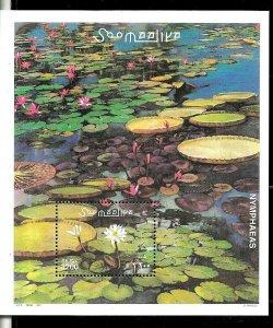 #8043 SOMALIA 2001 FLORA FLOWERS SOUVENIR SHEET YV BL 79 MNH
