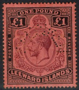 LEEWARD ISLANDS 1921 KGV SPECIMEN 1 POUND