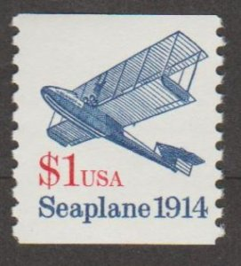 U.S. Scott #2468 Seaplane 1914 Coil Stamp - Mint NH Single