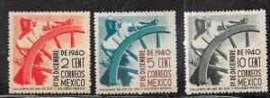 Mexico #764 -766   (MLH) CV $13.60
