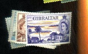 GIBRALTAR #137-143 MINT F-VF OG LH Cat $45