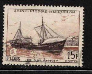ST PIERRE & MIQUELON Scott # 350 Used - Fishing Trawler La Galantry