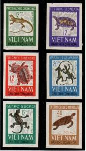 North Vietnam Scott 413-18 Mint NH imperf (Catalog Value $20.00)