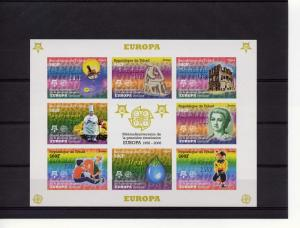 Chad 2005 Europa CEPT 50th.Anniv.Sheetlet Imperforated  Michel #2510/17
