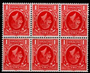 SG440gw SPEC NB23a, 1d scarlet, M MINT. Cat £95. BOOKLET PANE. WMK INV