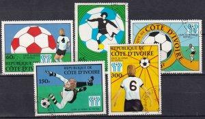 Ivory Coast #466-70 F-VF UseCV $2.65 (S10586)