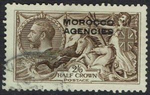 MOROCCO AGENCIES 1914 KGV SEAHORSES 2/6 USED