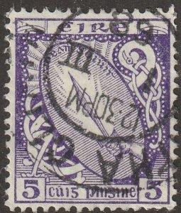 Ireland stamp, Scott#72, used, hinged, 5, purple, # I-72