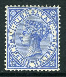 GIBRALTAR-1886-7 2½d Blue.  A lightly mounted mint example Sg 11