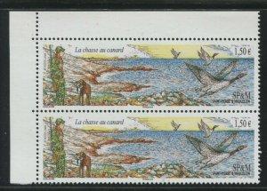 Saint-Pierre & Miquelon 2009 Sc 894 Birds Duck Hunting CV $4.50
