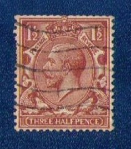 Great Britain KGV Sc #189b Used Wmk Sideways VF