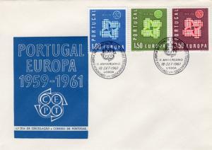 Portugal 1961 Sc#875/877 Europa CEPT '61 Clasped Hands F.D.C.