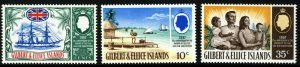 GILBERT & ELLICE ISLANDS 1967 75th. Anniv. of Protectorate SG 132 to SG 134 MNH