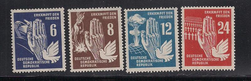 GERMANY - DDR SC# 71-4 F-VF OG 1950
