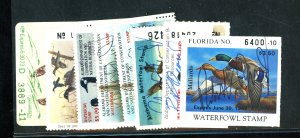 U.S. # 8 U.S. STATE DUCK STAMPS