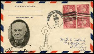 #654-NIP MENLO PARK, NJ U.S. FIRST DAY COVER CACHET BM9547
