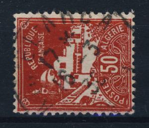 ALGÉRIE 1936 CAD AÏN EL ARBA / ORAN sur N°79A 50c Rouge Mosquée de La Pêcherie