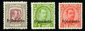 Iceland Stamps # 069-71 VF MH