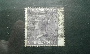 Great Britain #50a plt 6used e202 6731