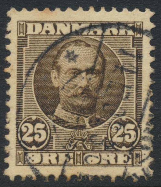 Denmark Scott 75 (AFA 57), 25ø brown Frederik VIII, VF used