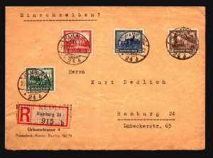 Germany SC# B33a - B33d On Registered Cover / Light Crease - Z17096