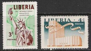 LIBERIA 355-56 MOG STATUE OF LIBERTY H1139