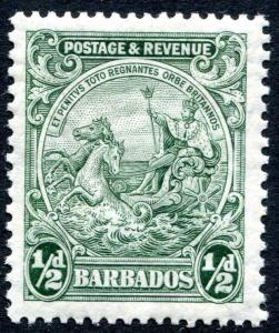 BARBADOS-1932 ½d Green Perf 13½ x 12½ Sg 230a LIGHTLY MOUNTED MINT V23896