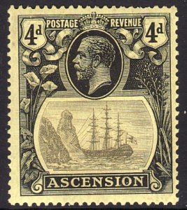 1924 Ascension King George V KGV 4p Seal of the Colony MLMH Sc# 15 CV: $60.00