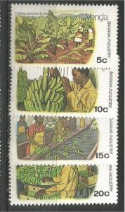 VENDA, 1980, MNH Complete set, Bananas Scott 32-35
