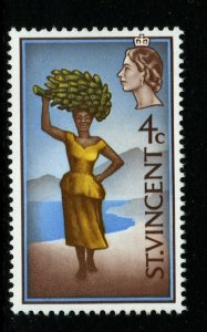 ST.VINCENT SG261 1968 WOMAN WITH BANNANAS MNH