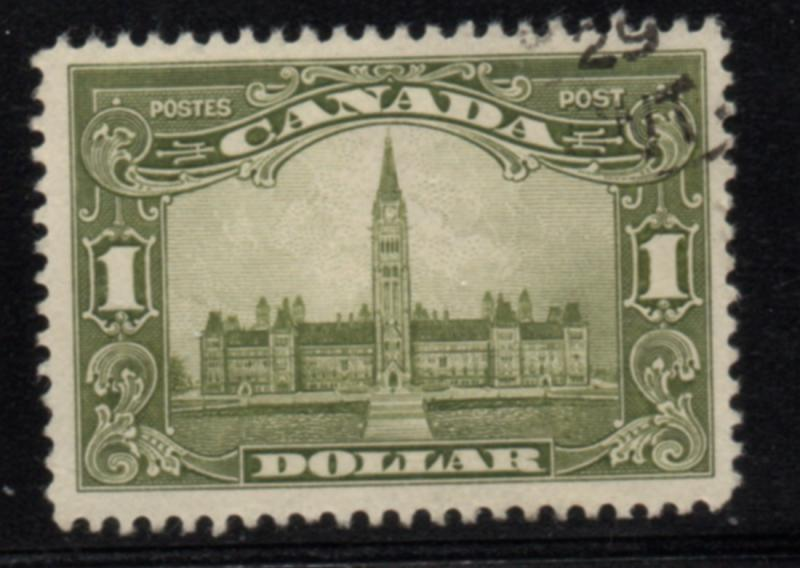 Canada Sc 159 1929 $1 Parliament Building stamp used