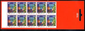 Iceland Sc 1003a 2003 45k Christmas stamp booklet mint NH