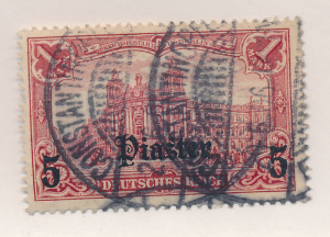 Germany, Offices In Turkey Stamp Scott #39, Used - Free U.S. Shipping, Free W...